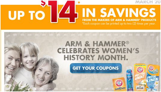 Arm and hammer manufacturer coupons