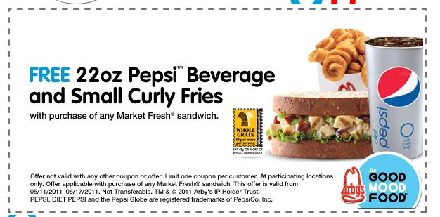 printable coupons and deals pepsi curly fries arbys