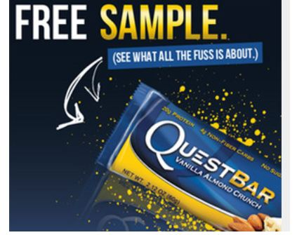 FREE Quest bar sample...