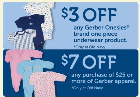 photograph relating to Old Navy Printable Coupon identify Gerber Outfits Printable Discount codes (Just Legitimate at Previous Armed forces