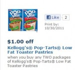 Pop tarts low fat