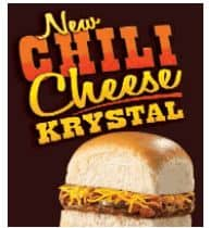 graphic about Krystal Printable Coupons known as Krystal: One particular Free of charge Chili Cheese Krystal (Fb Supply