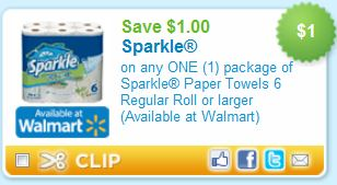 Printable Coupons And Deals Sparkle Paper Towels