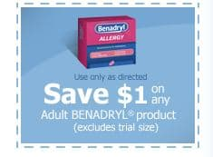 Benadryl adult product