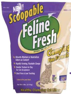 Feline fresh cat litter