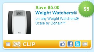 photograph regarding Conair Printable Coupons identify $5 off any Body weight Watchers Scale by way of Conair - Printable