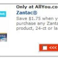 All You Exclusives: $1.75 off any Zantac Product & $1 off any One Activia 4-Pack (Back again if you missed it)