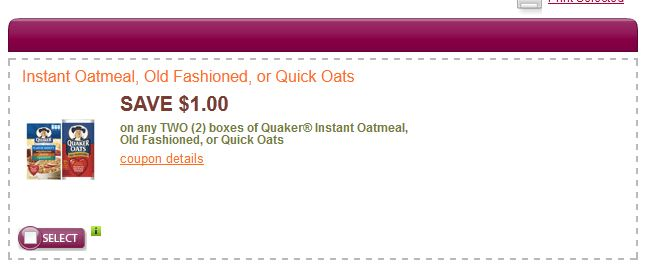 graphic about Quaker Printable Coupons referred to as Quaker Oats Prinable Coupon - Printable Discount coupons and Offers