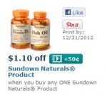 Sundown naturals fish oil coupon network
