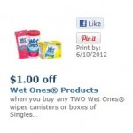 Wet Ones Products coupon network