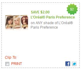 Loreal Hair Color Coupons on Loreal Preference Hair Color Redplum Printable Coupons And Deals