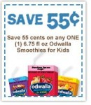 Odwalla Smoothies for kids pritnable coupon