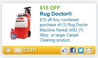 Printable Coupons And Deals Rug Doctor Sept 15