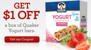 quaker yogurt granola bars