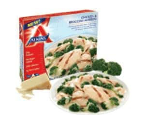 Atkins frozen meal