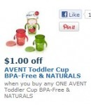 Avent cup or pacifier