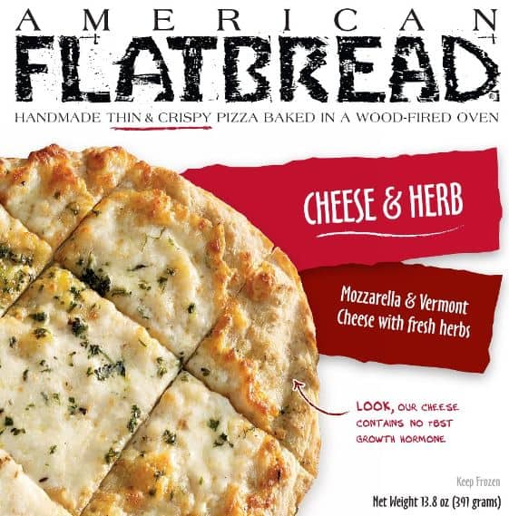 American Flat bread pizza