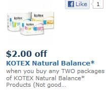 Kotex Natural Balance Jan