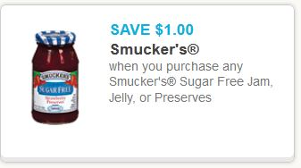 Smuckers sugar free jam jelly or preserves