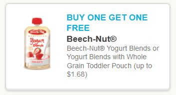 Beechnut fruit and yogurt blends