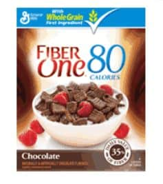 Fiber One 80 Calorie Chocolate cereal