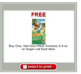 Friskies Cat Food Coupons Printable