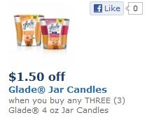 Glade jar candles feb