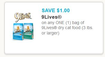 Coupon For Nine Lives Cat Food