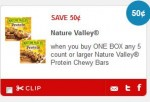 Nature valley chewy granola bars
