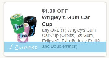 Wrigleys gum car cap $1