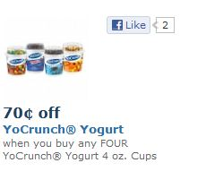 Yocrunch yogurt