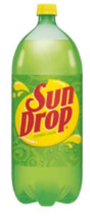 Sun Drop soda 2 liter