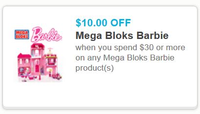 Barbie mega blocks