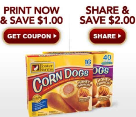 Printable Coupons And Deals Foster Farms Corn Dogs