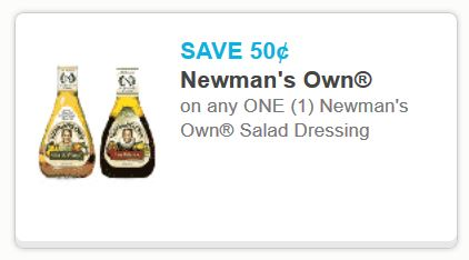 Newman's Own salad dressing may