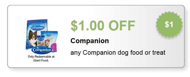 companion dog food or treat