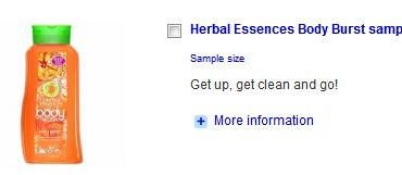 Herbal essense body burst sample