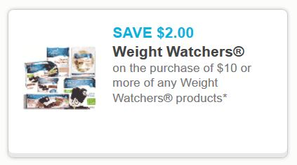 Coupons for weight watchers products