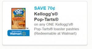 Kellogg's Toaster pastries 70 cents
