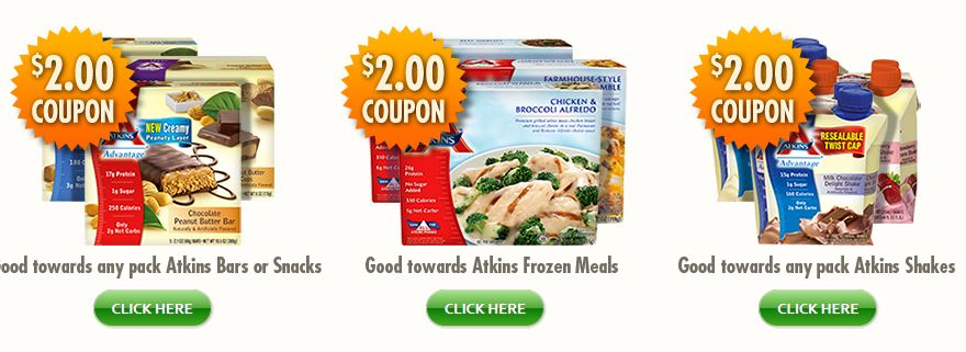 picture about Atkins Printable Coupons named Atkins bars printable discount codes 2018 - Coupon icon down load