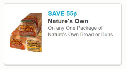 natures own bread or buns nov