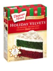 Duncan hines holiday velvets