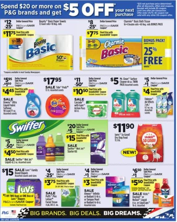 Printable Coupons And Deals Dollar General Spend 20 Or More On