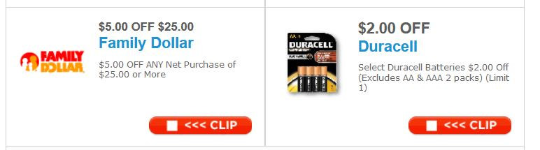 graphic about Duracell Battery Coupons Printable known as Household Greenback Discounts for the Working day: $5 off $25 or Further more, $2 off