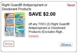 These printable coupons will save you cash on your favorite Right Guard products. Since the s Right Guard has nearly cornered the market on deodorant for men. Find out if you're the man for Right Guard protection: use our coupons and find the scent that works for you.