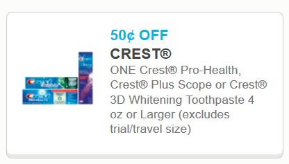 Crest 3d white coupons