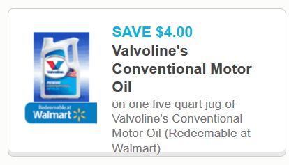Printable coupons and deals valvoline motor oil jan for Valvoline motor oil coupons