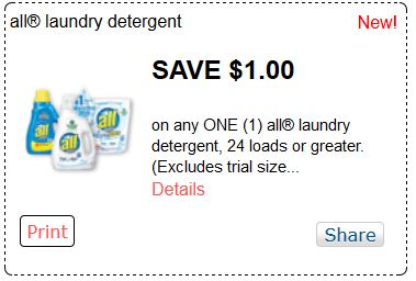 We typically see the best All deals at CVS, Walgreens, Safeway and Kroger affiliates. Save up to $ on All laundry detergent using our coupon database. We typically see the best All deals at CVS, Walgreens, Safeway and Kroger affiliates.