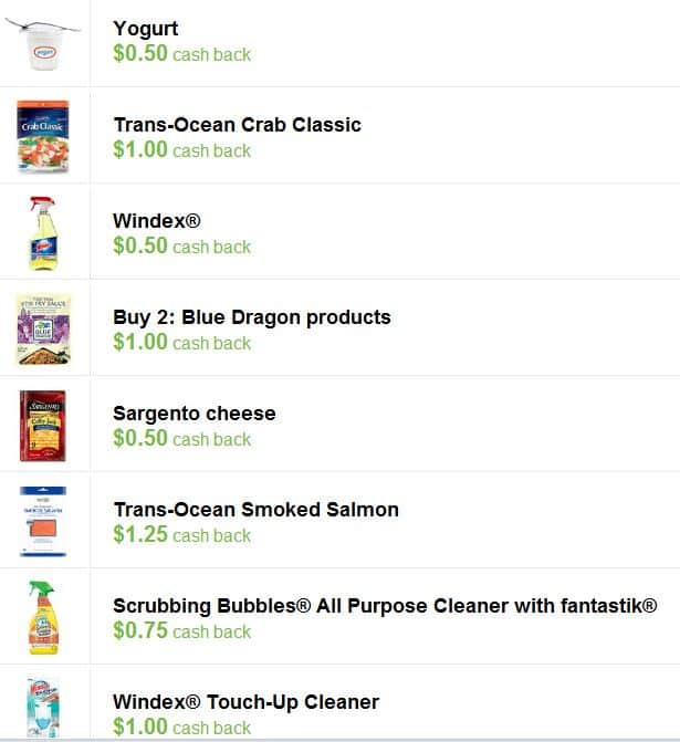 New Checkout 51 Offers: $.50 Back on Yogurt, $1 back on Crab Classic, $1 Back on Windex Touch up and More