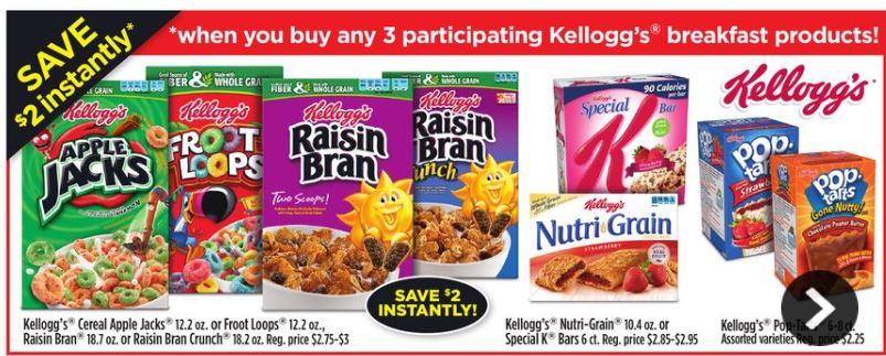 dg kellogg's buy 3 save $2